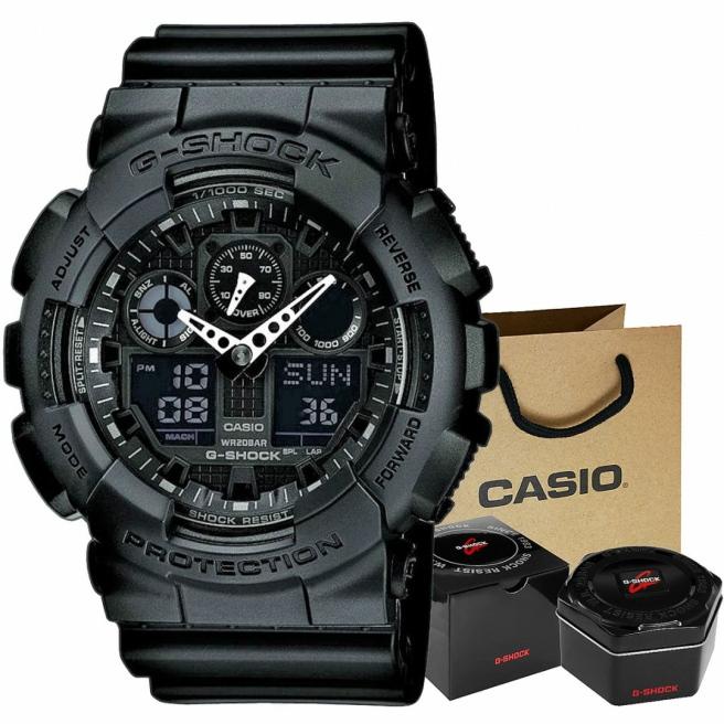 Zegarek Meski CASIO G SHOCK GA 100 1A1ER 20 Bar Do nurkowania 1