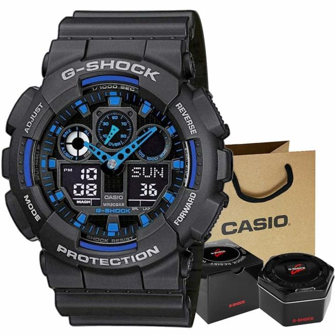 Zegarek Meski CASIO G SHOCK GA 100 1A2ER 20 Bar Do nurkowania 1