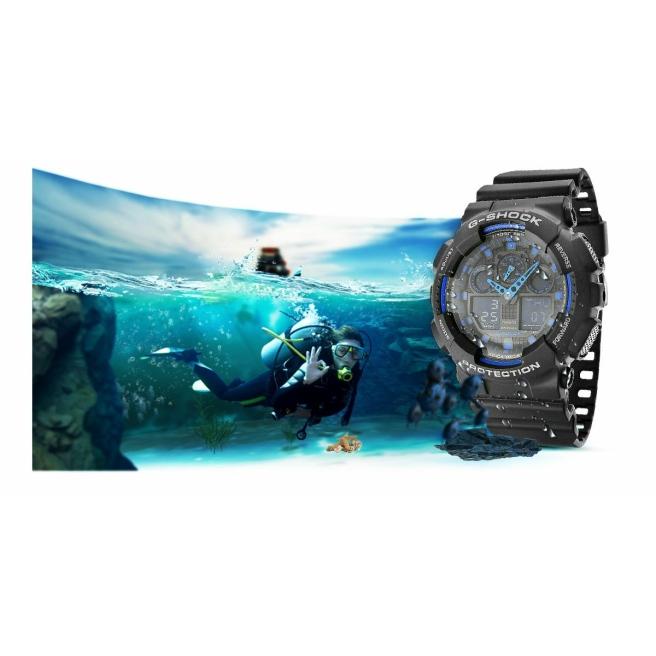 Zegarek Meski CASIO G SHOCK GA 100 1A2ER 20 Bar Do nurkowania 12