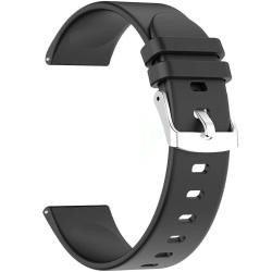 Pasek silikonowy do Smartwatcha 22 mm CZARNY RNCE40 SW010 KW19